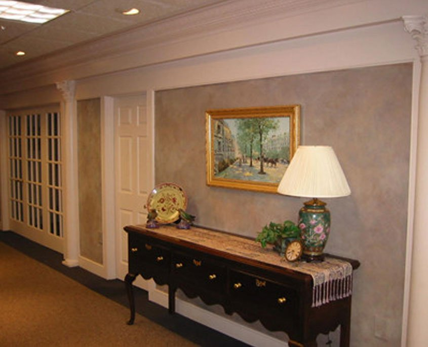 Decorative painting faux finish in office
